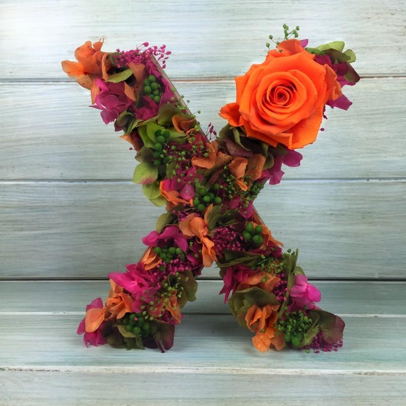 Letra de flores preservadas ORANGINE