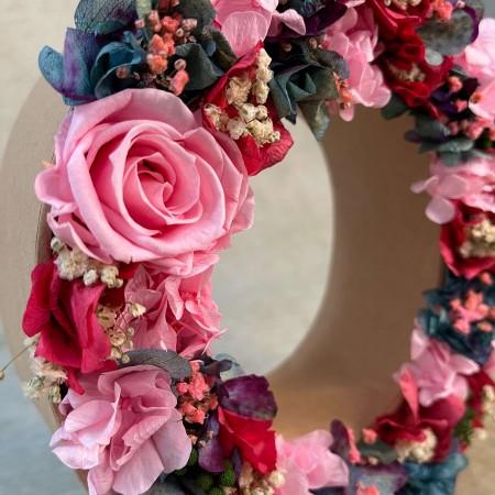 Letra de flores preservadas SOFT