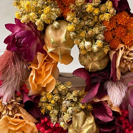 Letra de flores preservadas TERRACOTA XS