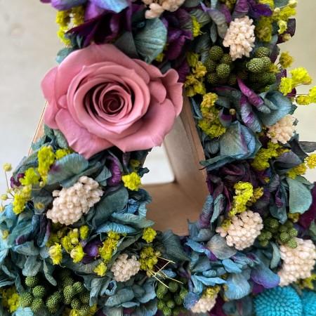 Letra de flores reservadas FOREST