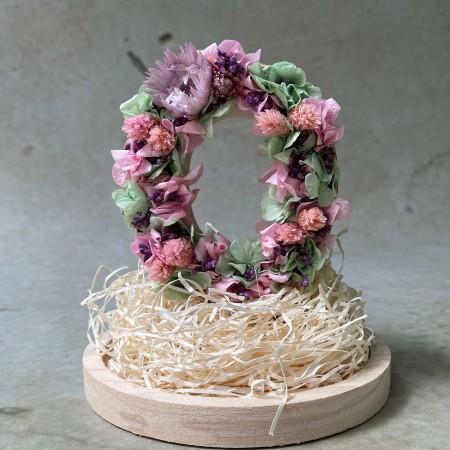 Letra de flores preservadas UNICORN XS