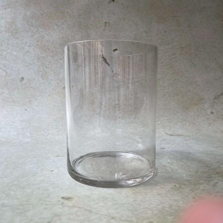 Jarrón de cristal cilíndrico
