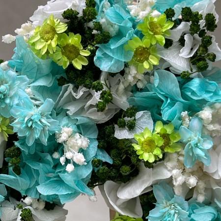 Letra de flores preservadas OCEAN
