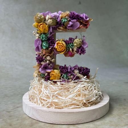 Letra de flores preservadas BLOOM XS