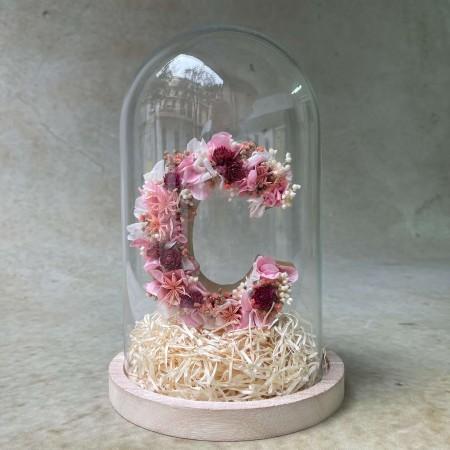Letra de flores preservadas CHERRY XS