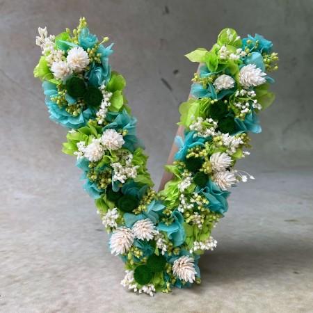 Letra de flores preservadas MINT