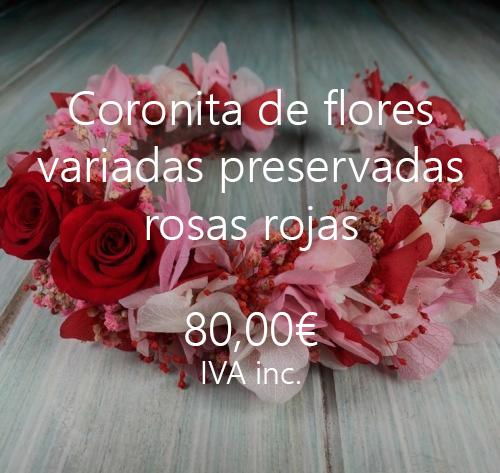 coronas flores preservadas pelo rosas