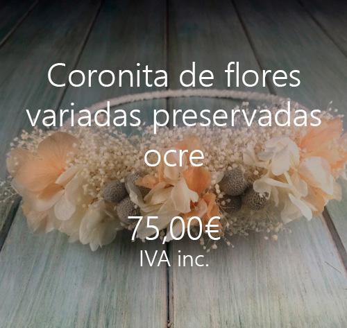 coronas pelo flores preservadas