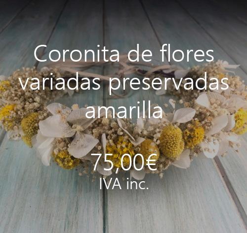 diademas flores preservadas