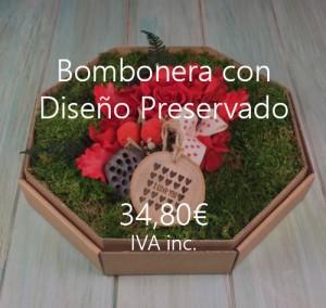 flores preservadas caja bombones