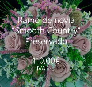 ramos novia preservados con rosas