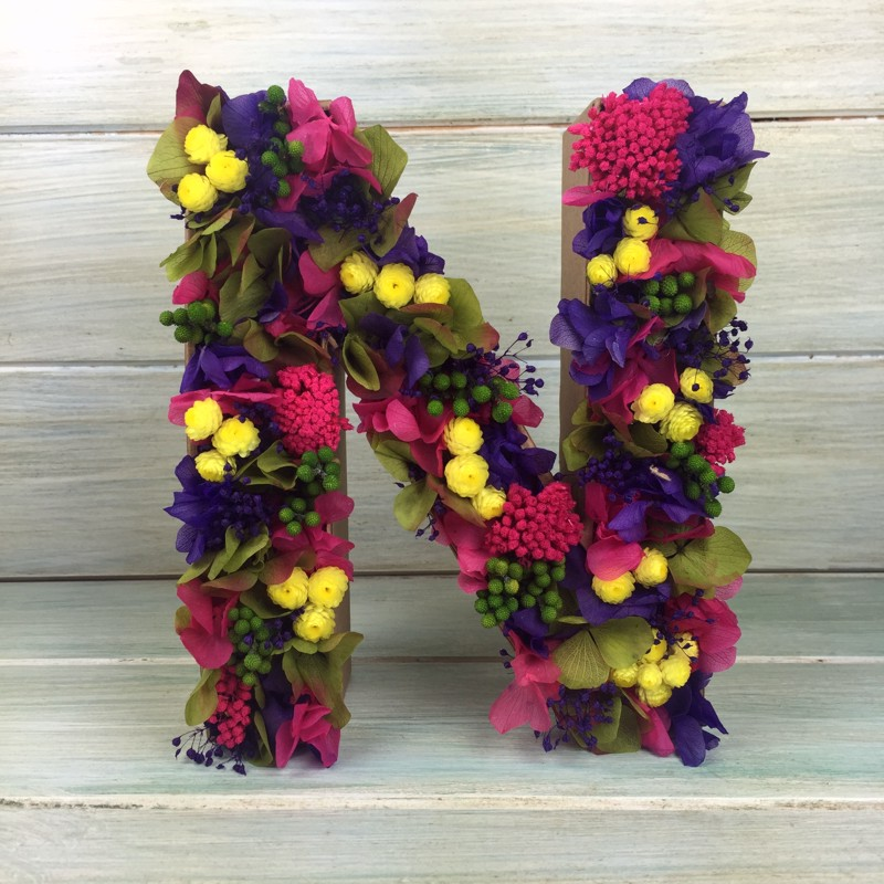 Letra A Y L Decorada Con Flores
