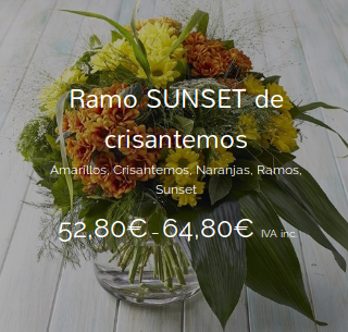 Ramo SUNSET de crisantemos