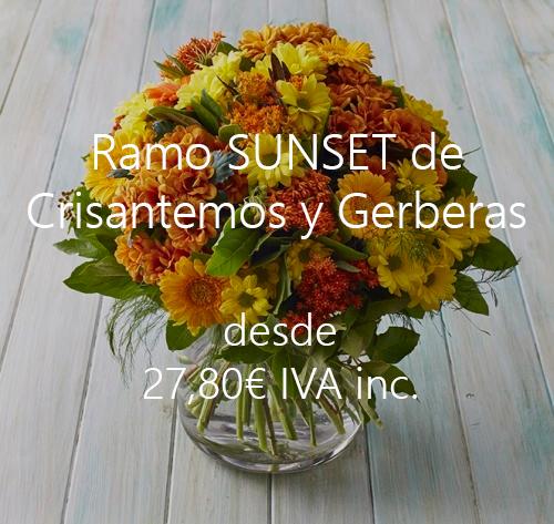 Ramo de Crisantemos y Gerberas