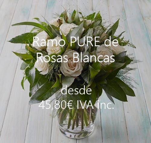 Ramo de Rosas Blancas - Top Flores Madrid