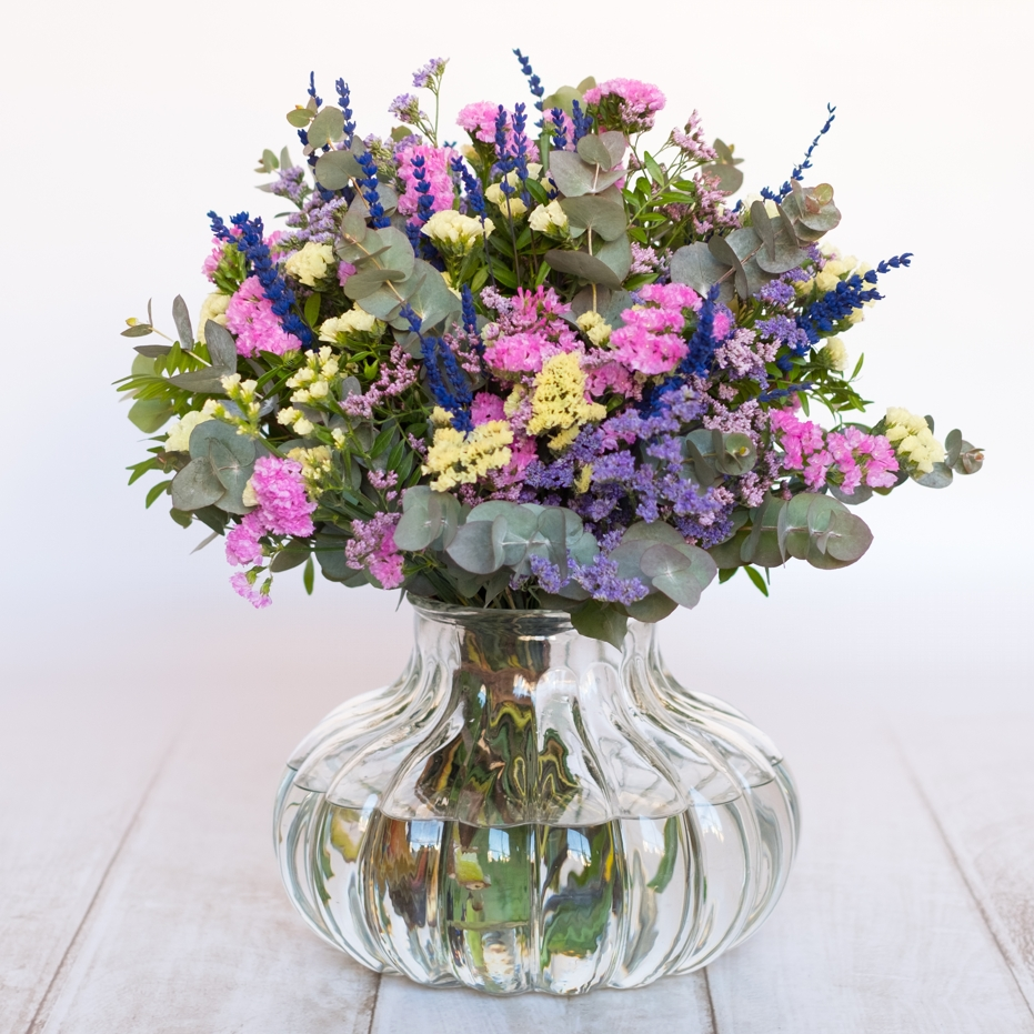 Ramo de flores de temporada - Tonos lilas